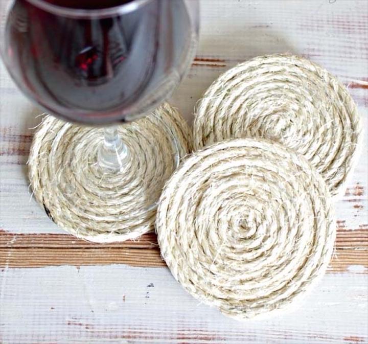 Підставки з мотузки для напоїв