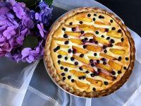 Тарт з персиками