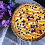 Тарт з персиками — ніжна начинка, хрумка скоринка