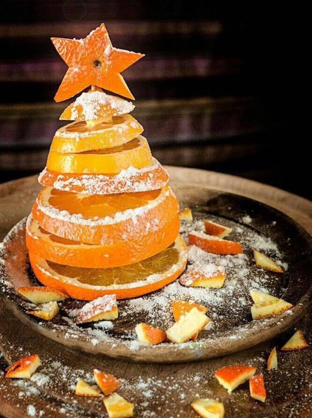 Декоративні ялинки з цитрусових