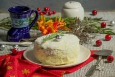 Новорічний торт «Сніжний»