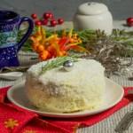 Новорічний торт «Сніжний» — простий і смачний