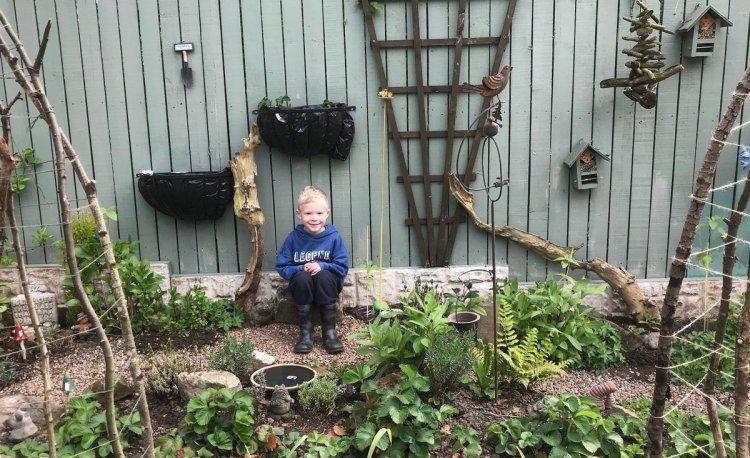 Переможець Kids' Corner Garden (Дитячий куточок в саду) - Клер (і Генрі Шеперд) з Барнслі