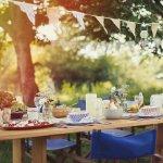 Обідній стіл в саду чи на подвір'ї — 45 ідей оформлення