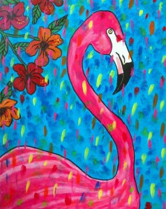 Beautiful flamingo