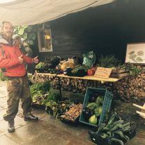 De zelfoogsttuin op de jaarmarkt in Thesinge.