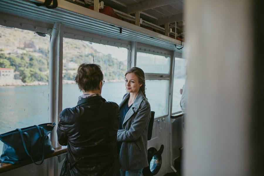 island of kolocep croatia wedding photographer boat ride