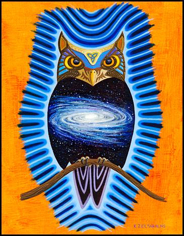 "Night Owell - Oil on canvas board, 12"" x 16"", 2013"
