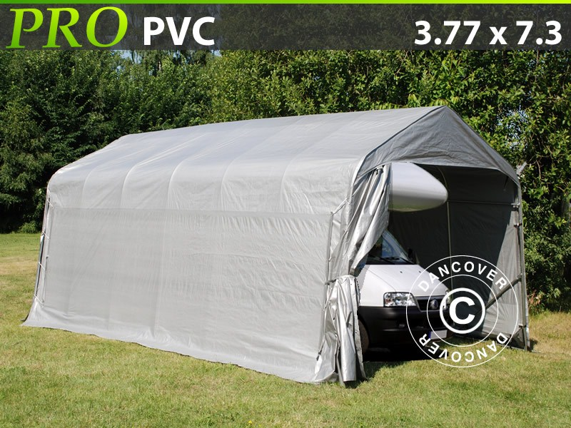 Lagerzelt Garagen-PRO-3.77X7.3X3.24X2.74-M-PVC