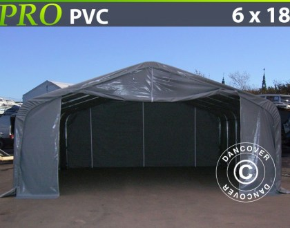 Lagerzelt garagen-PRO-6X18X37-M-PVC