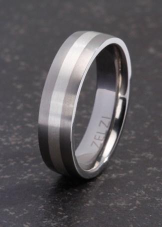 Athanasios titanium & zilveren ring