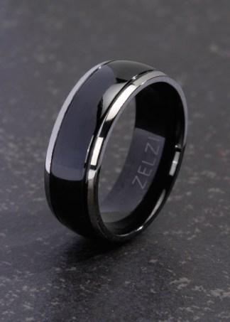 Pelagia zwarte titanium ring