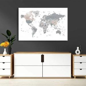 zemelapiai ant drobes, zemelapaiantdrobes, žemėlapis su smeigtukais, pasaulio žemėlapiai ant sienos5