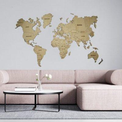 zemelapiai ant sienos, medinis žemėlapis, dekoracija ant sienos, pasaulio zemelapis5