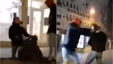 """Photo of """"Kujt i bëhesh mafiash"""", rrahje në mes të Shkupit (VIDEO)"""