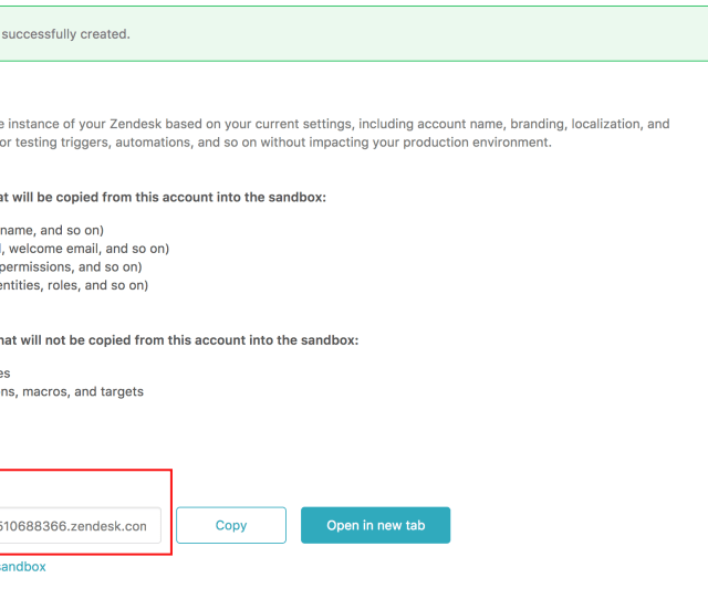 The Sandbox Has A Unique Url With A Ten Digit Number After Your Domain Name