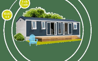 O'HARA 1064 – 3 CHB – 2 SDB – Mobil-home neuf – Gamme LOCATIVE