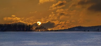 Meditation: Sonne-Schnee-Achtsamkeit-Leben