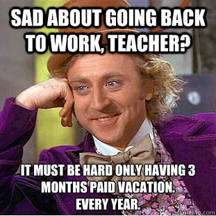 teacher back to work