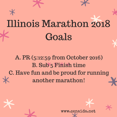 Illinois Marathon 2018 Goals