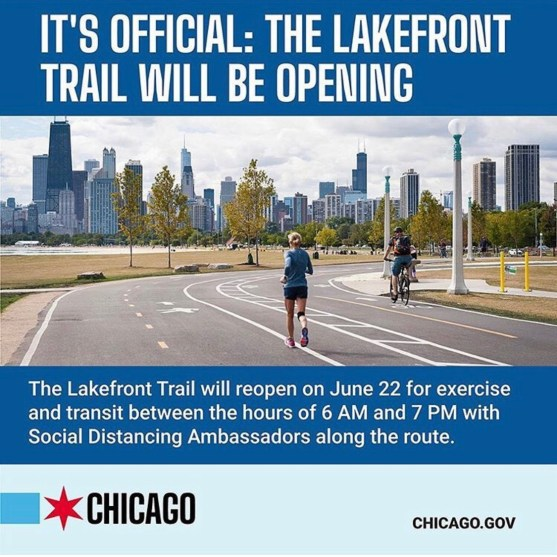 Lakefront is open