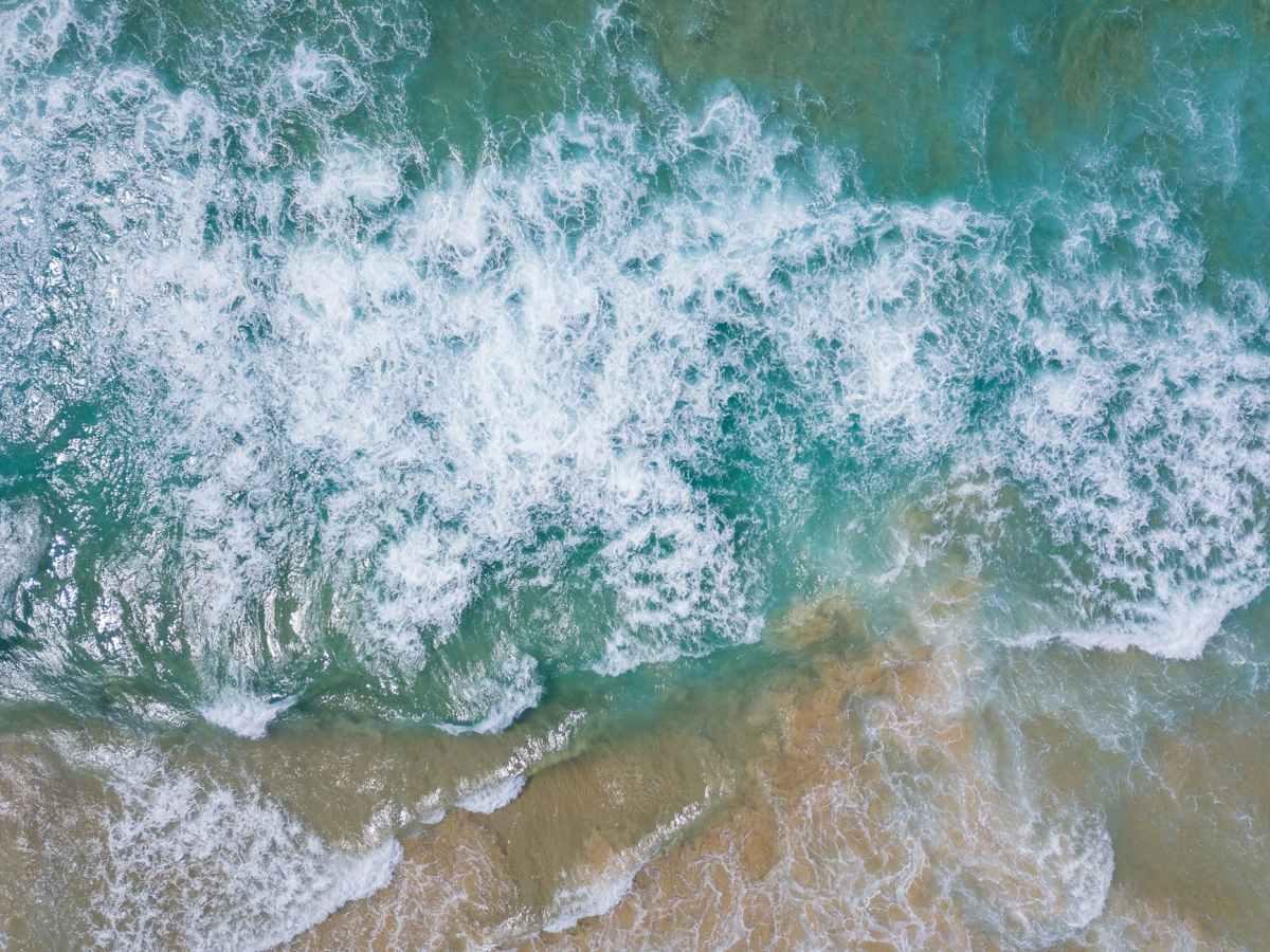 bird s eye view of sea waves