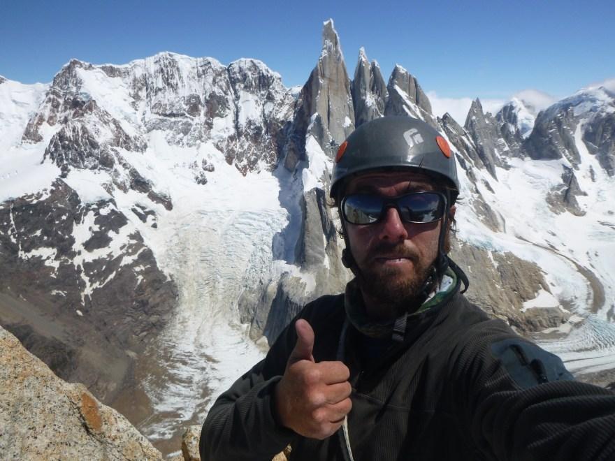 Summit selfie Chalten Massif