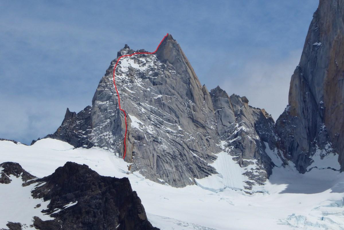 Aguja de la s amy cara este Chalten Massif