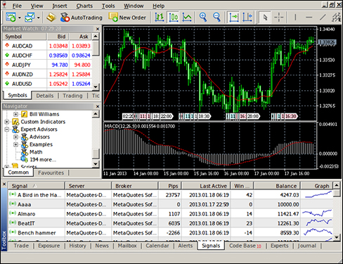 MetaTrader is great - if you miss Windows 95