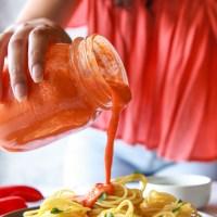 Creamy Roasted Red Pepper Tahini Sauce (Vegan, Oil-Free)