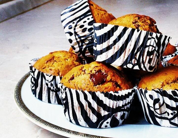 muffini s cokoladom, muddini s cokoladom i visnjama, recept, zena vrsna