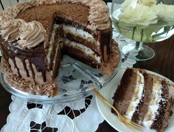 Čokoladna torta s bananama i rumom