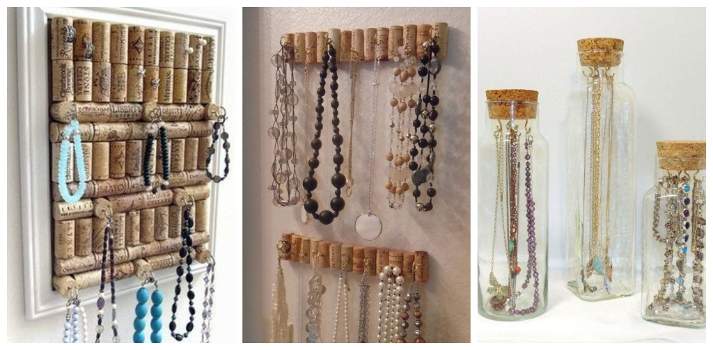 Pluteni čepovi, organizator za nakit