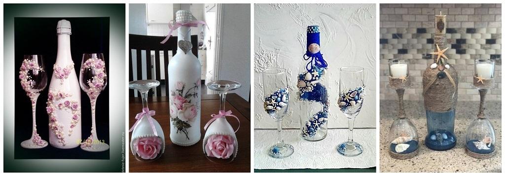 boce, čaše, svijećnjaci