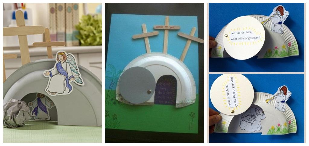 uskršnje dekoracije, dječji radovi, papirnati tanjuri