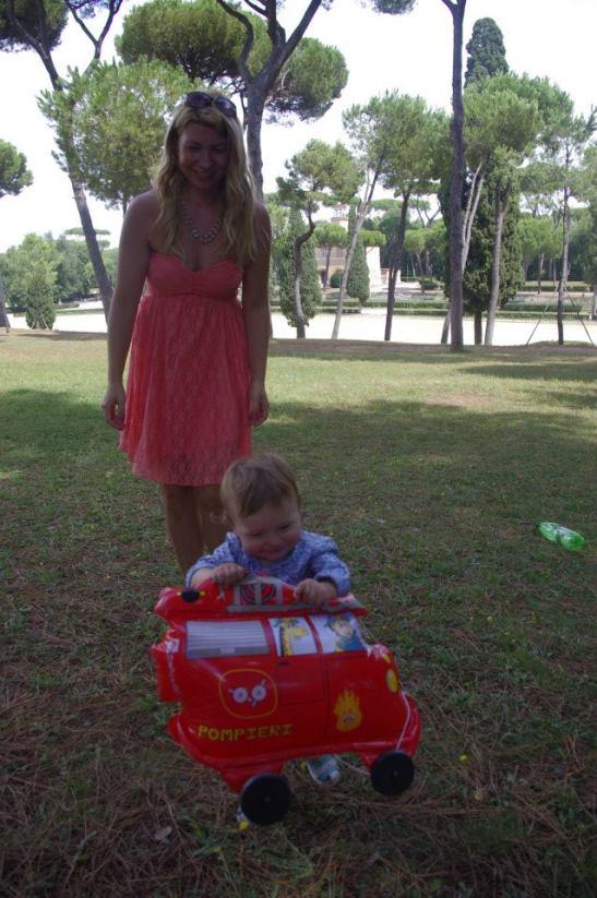 Baby in Rome: playground
