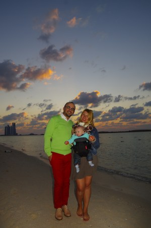 Abu Dhabi with baby. Public beach
