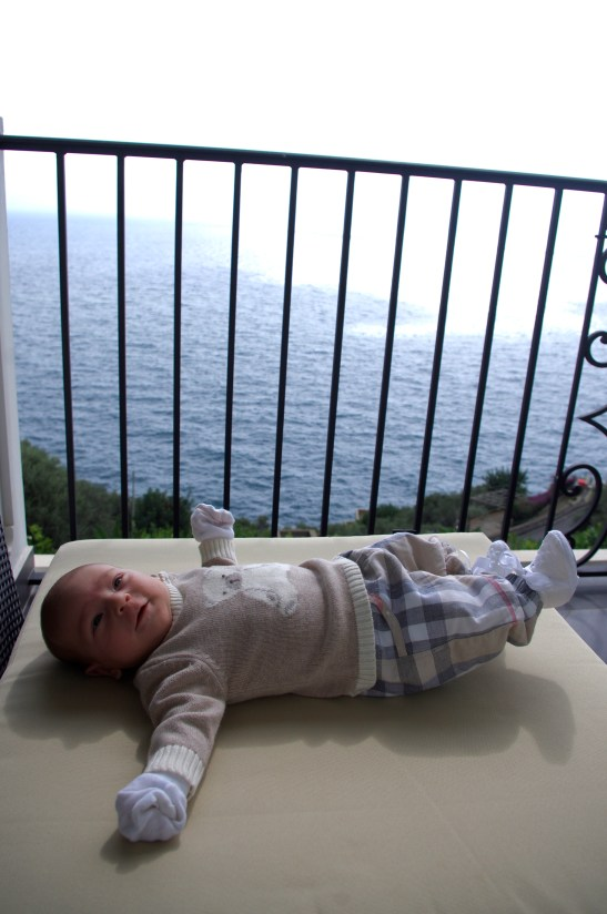 5 weeks old on Amalfi coast