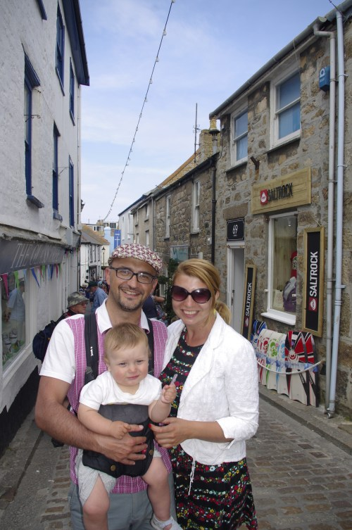 St Ives with baby