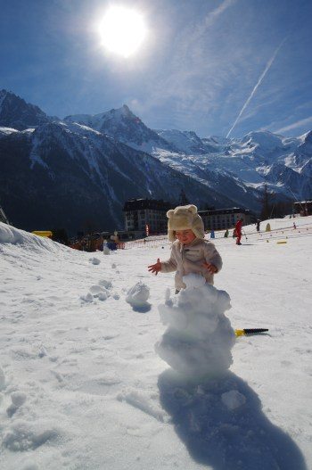 Chamonix with toddler