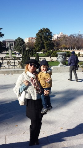 minibreak to Madrid with toddler : El Retiro
