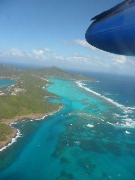 Dominica island air view
