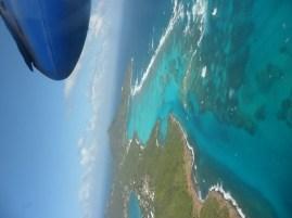 Dominica beach air view