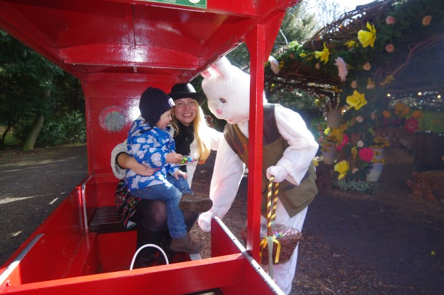 Audley End Miniature Railway London Easter bunny