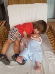 Ritz Abama with baby