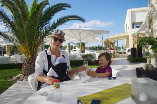 Greece for kids - Sani beach bar