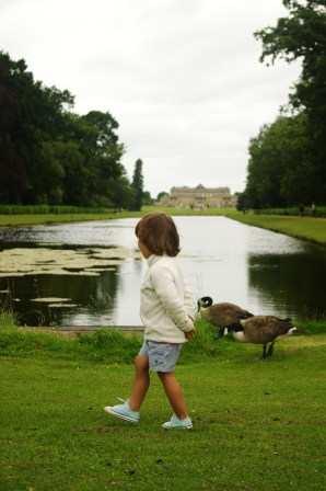 Wrest Park with kids