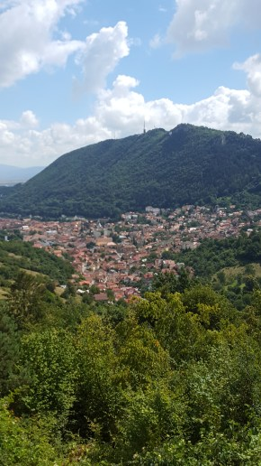 Brasov with kids: view from Velvedere