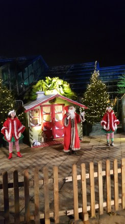 Visit Kew Gardens with kids: Father Christmas