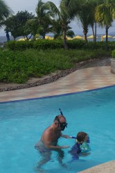 Nevis with kids: Four Seasons, the pool